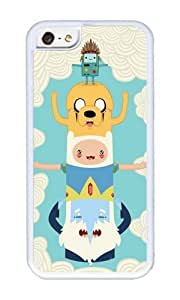 Apple Iphone 5C Case,WENJORS Personalized Adventure Totem Soft Case Protective Shell Cell Phone Cover For Apple Iphone 5C - TPU White