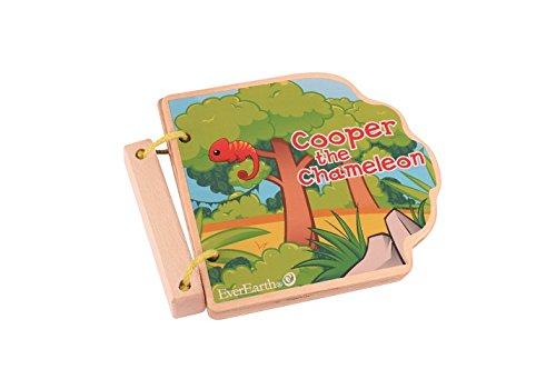 Toys EverEarth Safari Wooden Book EE33597 Maxim Enterprise