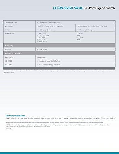D-Link 5-Port Unmanaged Gigabit Switch (GO-SW-5G) by D-Link (Image #8)