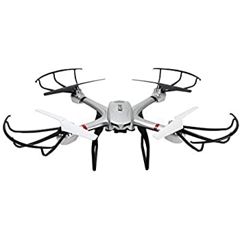 Ionic Stratus Drone Quadcopter for GoPro with 6-axis gyro system, one-key return, headless mode, shock absorption cradle head (Silver)(Compatible with Hero4)