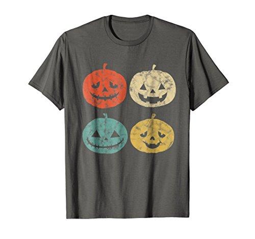 Mens Vintage Pumpkin T-Shirt Funny Pumpkin Halloween Gift Shirt Medium Asphalt -