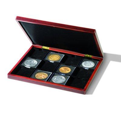 Coin Presentation Case 12 Coins in Quadrum XL Coin Holders Volterra