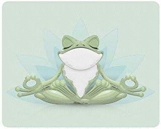 Rana de árbol Divertida Meditación Rana de Yoga en Lotus Pose Rectángulo Goma Antideslizante Laptop Mousepad Alfombrillas de ratón
