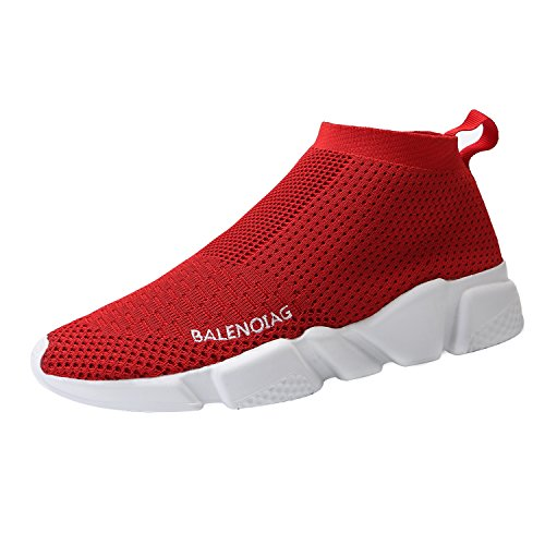 Red Casual Shoes - Mevlzz Mens Casual Athletic Sneakers Knit Running Shoes Tennis Shoe for Men Walking Baseball Jogging (800-Red42)