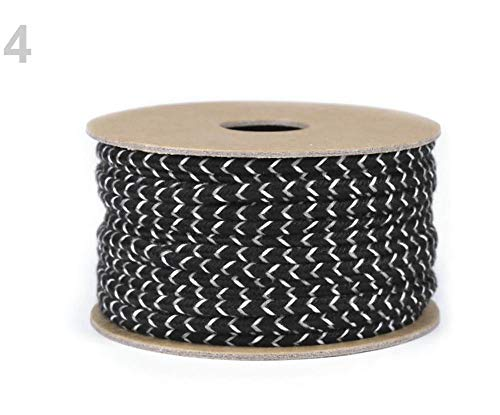 (20m 4 Black Cotton Soutache Braid Width 4mm, Braids, Cords and Strings, Haberdashery)