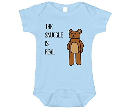 The Snuggle is Real Baby Onesie (Blue, 0-3)