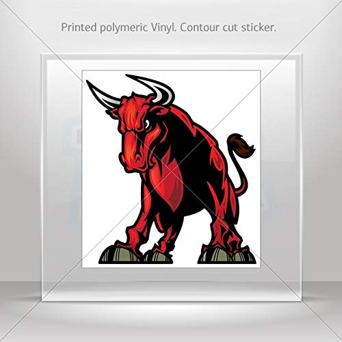 Decals Decal Angry Bull Decor Motorbike Bicycle Vehicle ATV car Laptop (10 X 9.02 - Motor Manhattan Cars