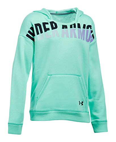 Under Armour Girls' Favorite Fleece Hoodie, Crystal (960), Youth X-Small