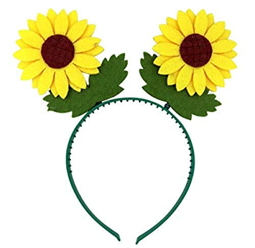 Needzo Kids Yellow Sunflower Bopper Headband Accessory