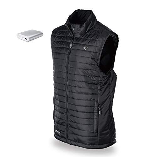 (Venture Heat Men's Heated Vest with Battery 12 Hour - The Roam Puffer Heated Vest for Men Black)