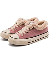 Womens Girl Canvas Sneaker Lace-Up Suede Shoes Sneaker...