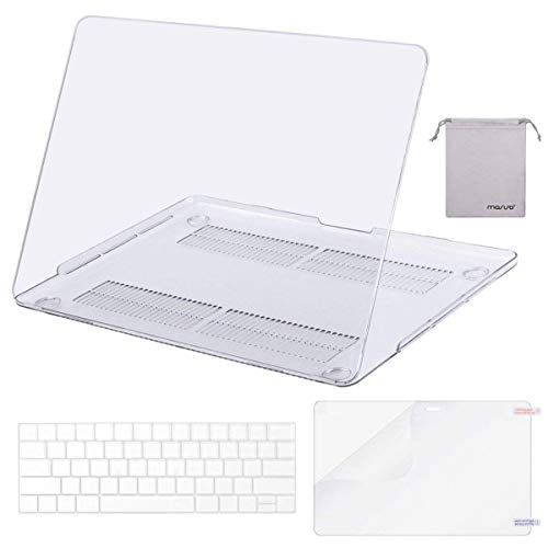MOSISO MacBook Pro 13 Case 2019 2018 2017 2016 Release A1989 A1706 A1708, Plastic Hard Shell & Keyboard Cover & Screen Protector & Storage Bag Compatible Newest MacBook Pro 13 Inch, Crystal Clear