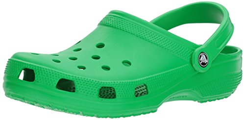Crocs Men's and Women's Classic Clog, Comfort Slip On Casual Water Shoe, Lightweight, Grass Green, 8 US Women / 6 US Men