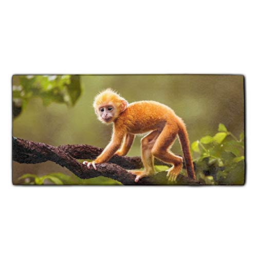 Nosed Monkey Premium Towel 27.5 X 11.8 Inch Luxury Towel Perfect for Bathrooms, Pool and Gym ()