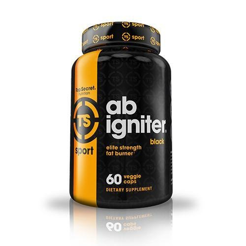 Top Secret Nutrition Ab Igniter BLACK Thermogenic Fat Burner Supplement for Weight Loss, Time Released Formula with No Crash (60 veggie ()
