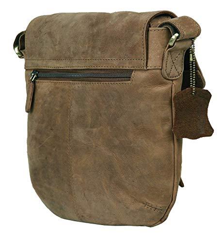 0c8e5b4056c3 LEADERACHI Hunter Leather Messenger Bag  Sassari-Muskat  - Buy ...