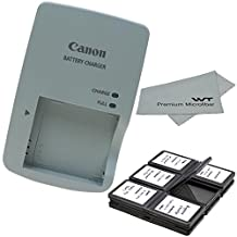 Canon CB-2LY Charger for Canon NB-6L NB-6LH Li-ion Battery compatible with Canon PowerShot D10 D20 S90 S95 S120 SD770 IS SD980 IS SD1200 + Bonus Items!