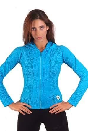Margarita - Designer Activewear - Turquoise Mesh Jacket - Small