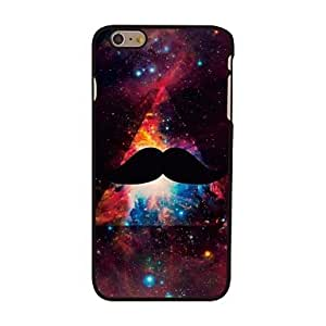 FJM Mustache and Space Style Plastic Hard Back Cover for iPhone 6 Plus