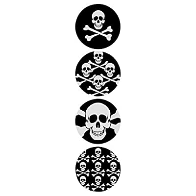 Fun Express Skull Stickers (100ct) 4 Cool Designs, 1 1/2