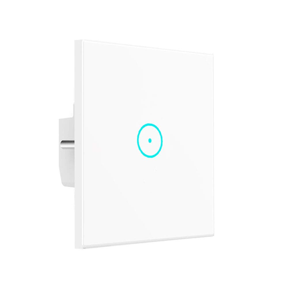 WiFi Smart Light Switch, LYASI Tempered Glass Touch-Screen WLAN Light Switches Wall, Work with  Alexa and Google Home, Wireless Remote, Timing Function, Overload Protection, No Hub Required (1 Gang)