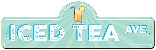 Iced Tea Street Sign | Indoor/Outdoor | Funny Home Décor for Garages, Living Rooms, Bedroom, Offices | SignMission Personalized - Tins Personalized Tea