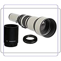BlueTech 650-1300mm f/8-16 Manual Focus Telephoto Zoom Lens (White) + 2x Teleconverter = 2600mm For Sony (E-Mount) Alpha a7, a7S, a7IIK, a7II, a7R, a6000, a5100, a5000, a3000, NEX-7, NEX-6 6/B, 6L/B, B2BDL, NEX-5, 5N, 5T, 5TL, 5TL/S, 5TL/W, 5R/B, 5RK/B, NEX-3, F3K/B, F3K/S, 3K, 3NL/B, 3NL/W Compact Interchangeable Lens Mirrorless Digital Camera