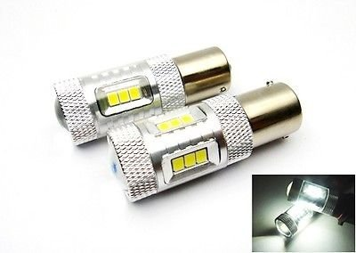 LEDIN 2x SAMSUNG 15 SMD 1156 Projector LED Back Up Reverse Light Bulb 7506 P21W BA15s (71 Chevelle Led Tail Lights)