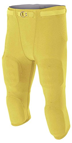 A4 Boy's Flyless Integrated Football Pant Gold ()