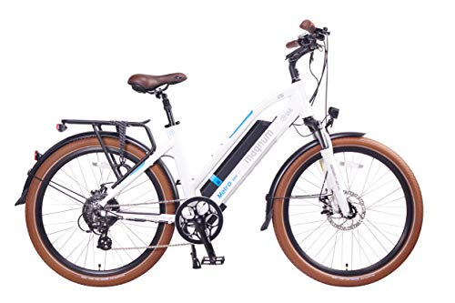 Magnum Ui6 Luxury Electric Hybrid City Bike - 500W Motor, Large Capacity 48V13A Lithium Battery (Glossy White)