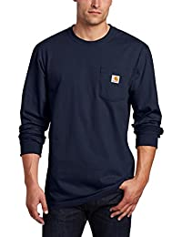 Men's Tall Pocket Long-Sleeve Workwear T-Shirt K126