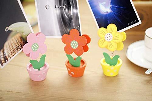 Memo clip, Note Holder a forma di vaso di fiori foto supporto di nome Holder Home Decor (casuale) Salamii