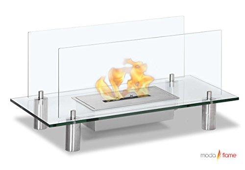 Moda Flame Baza Free Standing Floor Indoor Outdoor Ethanol Fuel Fireplace