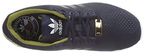 adidas Zx Flux W, Zapatillas para Mujer Azul Marino / Dorado