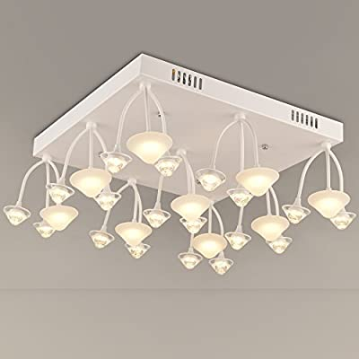NATSEN LED Ceiling Lights 54W Modern Ceiling Light Fixture Semi Flush Ceiling Light Living Room Bedroom Dining Room