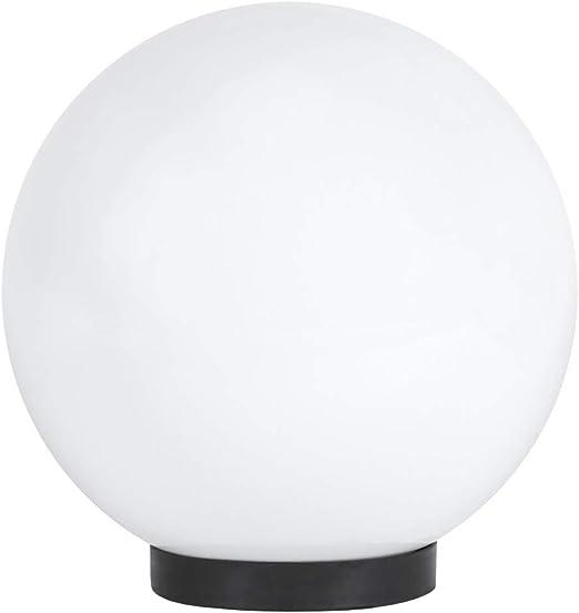 Lámpara esférica de 25 cm de diámetro, iluminación para terraza, IP65, lámpara de jardín blanca, lámpara de bola para exterior, 230 V, lámpara decorativa para exterior, iluminación de jardín: Amazon.es: Iluminación
