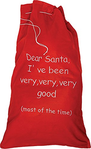 X Text Large Good Red Christmas I've 60 With One Gift Been Very Size 90cm Sack fnwaCqO