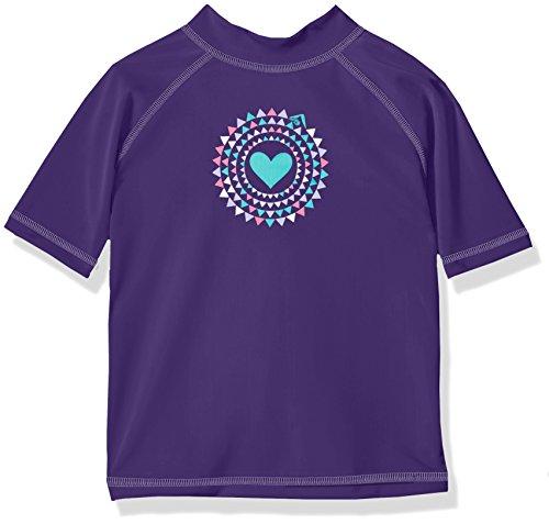 Kanu Surf Toddler Girls' Jade UPF 50+ Sun Protective Rashguard Swim Shirt, Purple, 5T