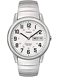 Men's T20461 Easy Reader 35mm Silver-Tone Stainless Steel Expansion Band Watch