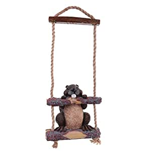 MonkeyJack Resin Garden Statue Simulation Animal Figures Mole Swing Statue Home Decoration Gift