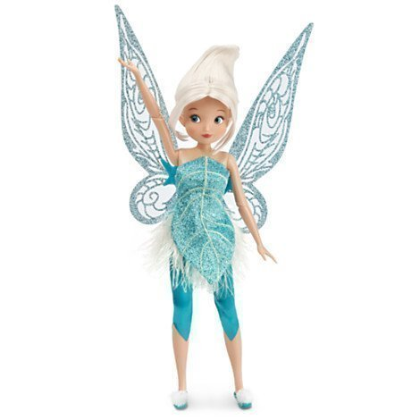 Disney Periwinkle Fairy doll, Secret of the Wings, Flittering fun with push-button activated wings, Embroidered, faux fur, glittering velour fabric, Poseable arms and legs, Genuine & Authentic