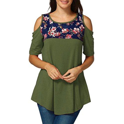 SANFASHION Donna Bekleidung SANFASHION Ballerine Damen Verde Shirt155 rwrpvXdx