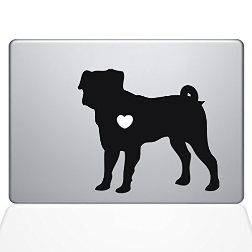 "The Decal Guru I Love My Pug Decal Vinyl Sticker, 13"" MacBoo"