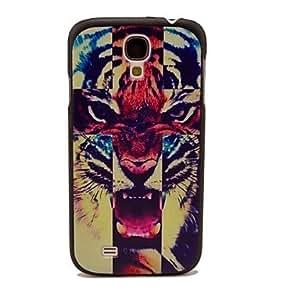 PEACH-Cross Tigers Pattern Hard Case for Samsung Galaxy S4 I9500