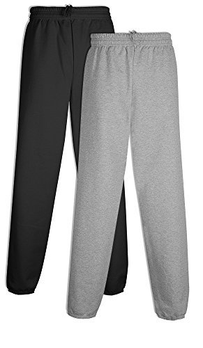 Hanes P650 Men's EcoSmart Fleece Sweatpant Medium 1 Black +