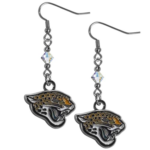 NFL Jacksonville Jaguars Women's Crystal Dangle Earrings (Jacksonville Nfl Crystal Jaguars)