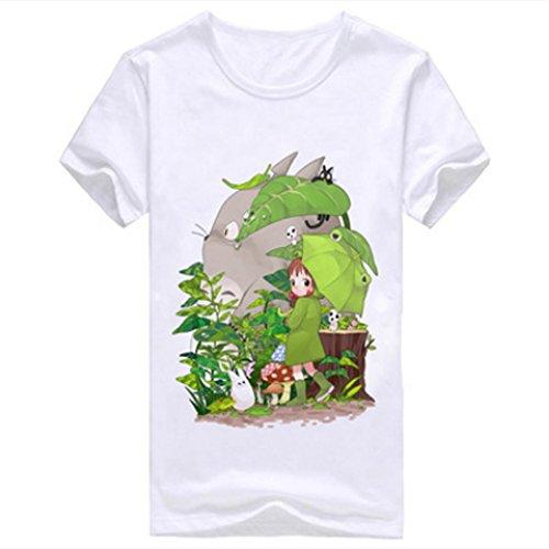 Happy Bag New Summer Anime My Neighbor Totoro Fashion Logo Men's T-shirt (XL, pattern nine)