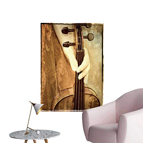 (SeptSonne Wall Decals a Vintage Look Photograph Female h a Violin Environmental Protection Vinyl,16