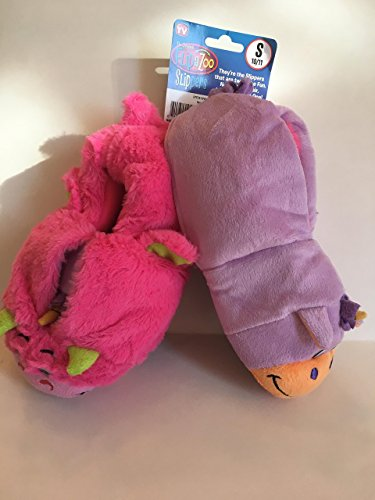 f4e4769f496 AS SEEN ON TV! FlipaZoo Slippers Unicorn Transforming to Dragon Toddler Size  Small - Two