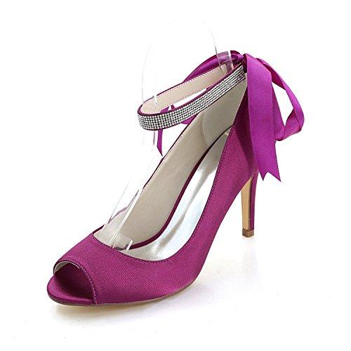 Heel Night Sandals Y5623 Women YC Wedding High amp; Party Shoes 12K Purple Heel Heel L F1Xpqxw